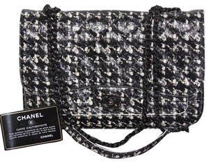 Chanel Leather Snakeskin Winter Cross Body Bag