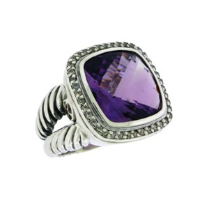 David Yurman DAVID YURMAN 14mm Amethyst with Diamonds Ring