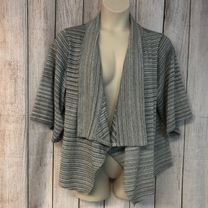 Joan Vass Cardigan Top GRAY