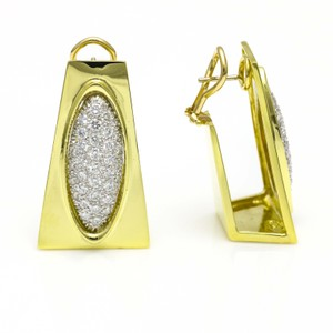 Henry Dunay Designs Henry Dunay Vintage Diamond 18k Yellow Gold Earrings