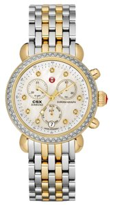 Michele Silver Gold Bracelet Mother of Pearl Diamond Dial CSX MWW03M000158