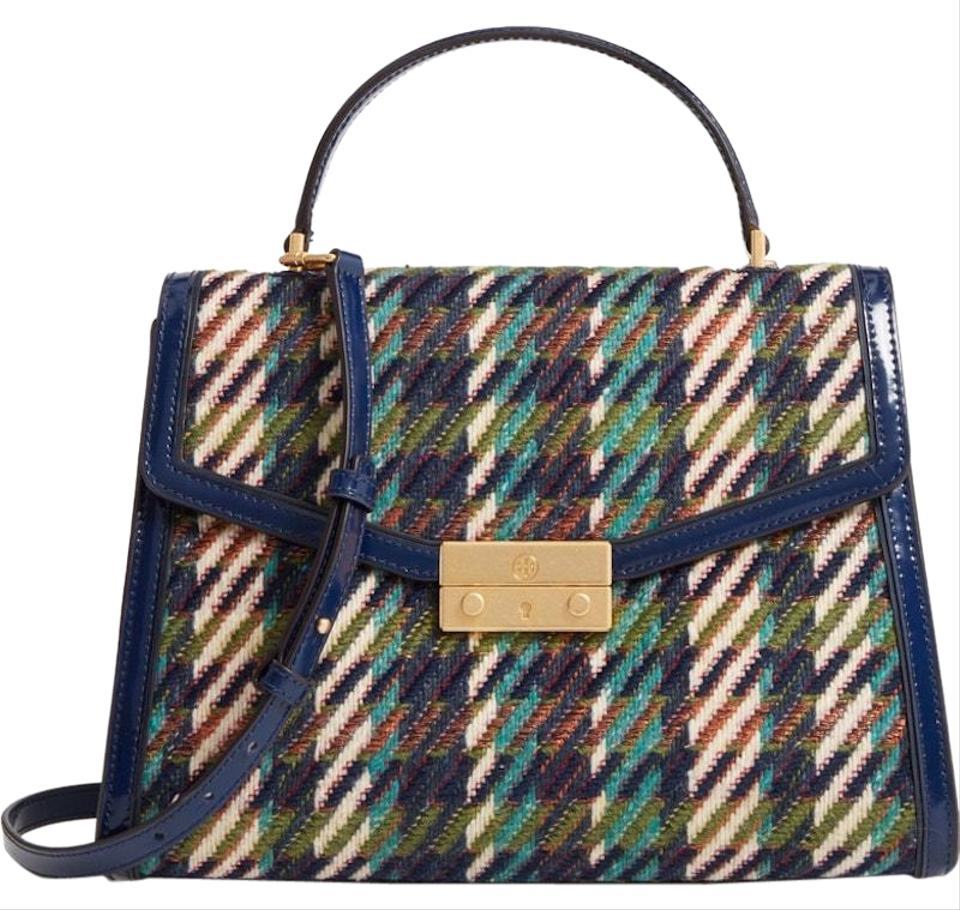 0c1f3db0afe Tory Burch Juliette New Top Handle Holiday Multicolor Patent Leather Tote