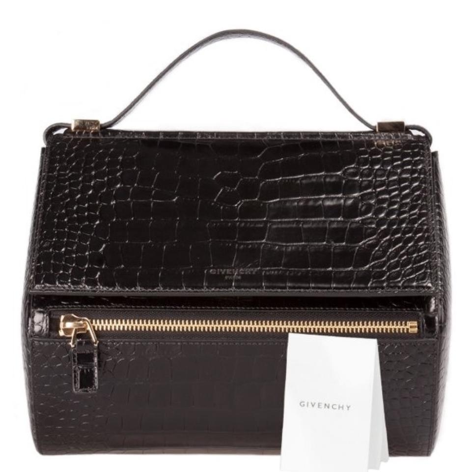 025874e4d5 Givenchy Box Pandora Black Croc Leather Satchel - Tradesy