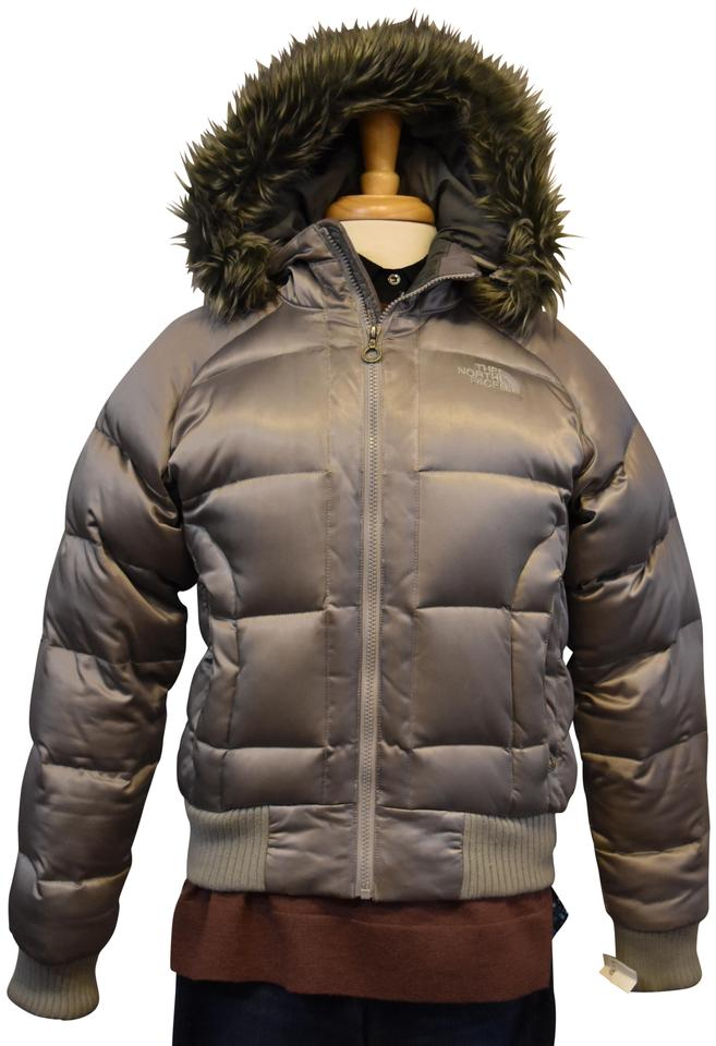 450b7e04fa The North Face Silver Puffer Medium Coat Size 10 (M) - Tradesy
