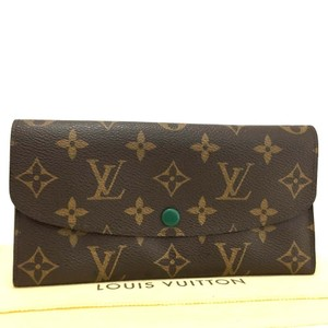 Louis Vuitton Authentic Louis Vuitton Monogram Emily Long Bifold Wallet Purse /dd256