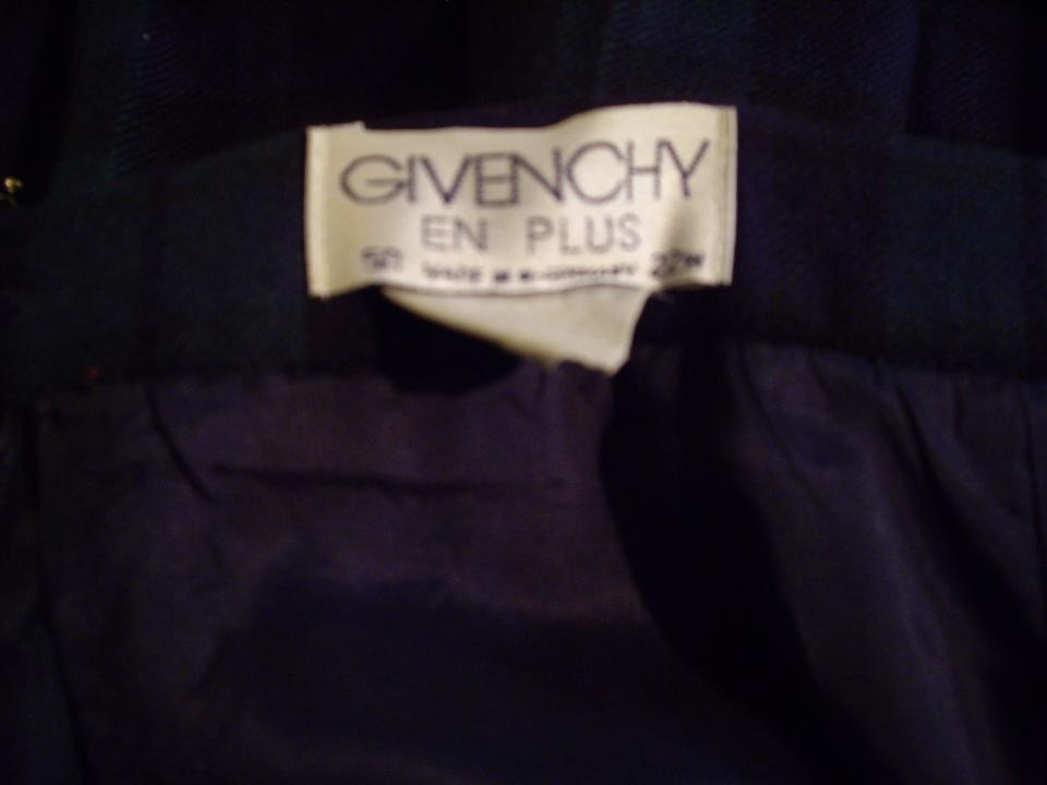4662d7cf31 Givenchy Green/Blue Plaid Pleated Skirt Size 22 (Plus 2x) - Tradesy