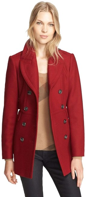 Item - Red Wool Cashmere Jacket Coat Size 2 (XS)