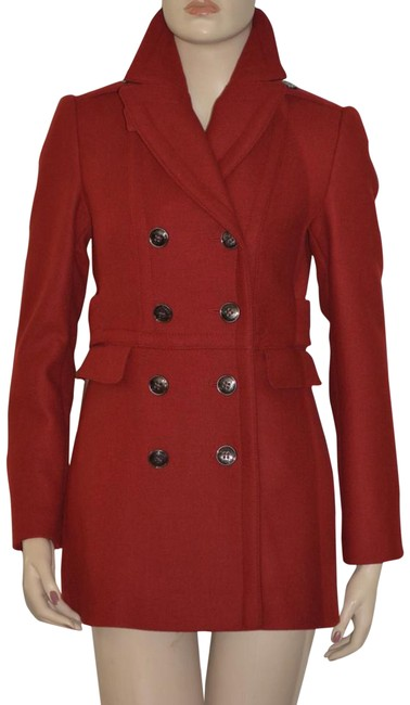 Item - Red Wool Cashmere Jacket Eu 42 Coat Size 8 (M)