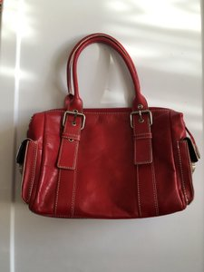 Hype Leather Satchel in Red