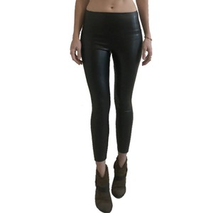 Wilfred Vegan Leather Sexy Party Night Holiday Black Leggings