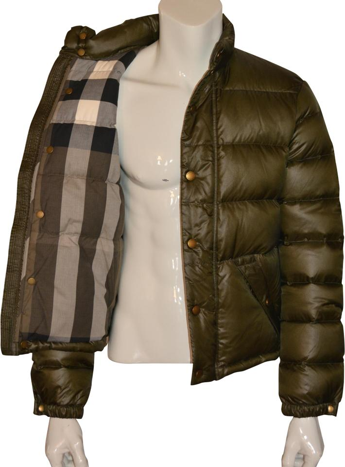 351ed309de34 Burberry Dark Green Mens Duck Down Quilted Puffer Jacket Xsmall Xs ...