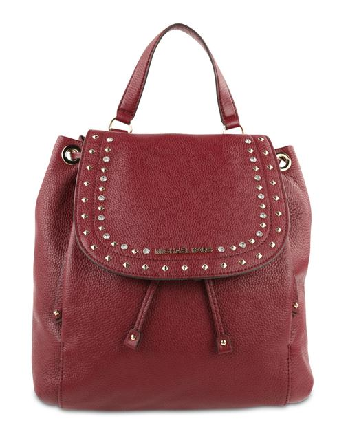 Item - Large Riley Mulberry Red Leather Backpack