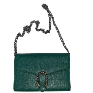 172e554b7 Added to Shopping Bag. Gucci Cross Body Bag. Gucci Dionysus Clutch Small  Emerald Green Leather ...