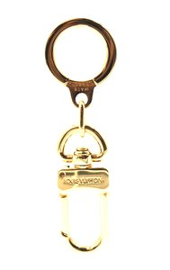 Louis Vuitton gold logo spelled out key charm ring chain
