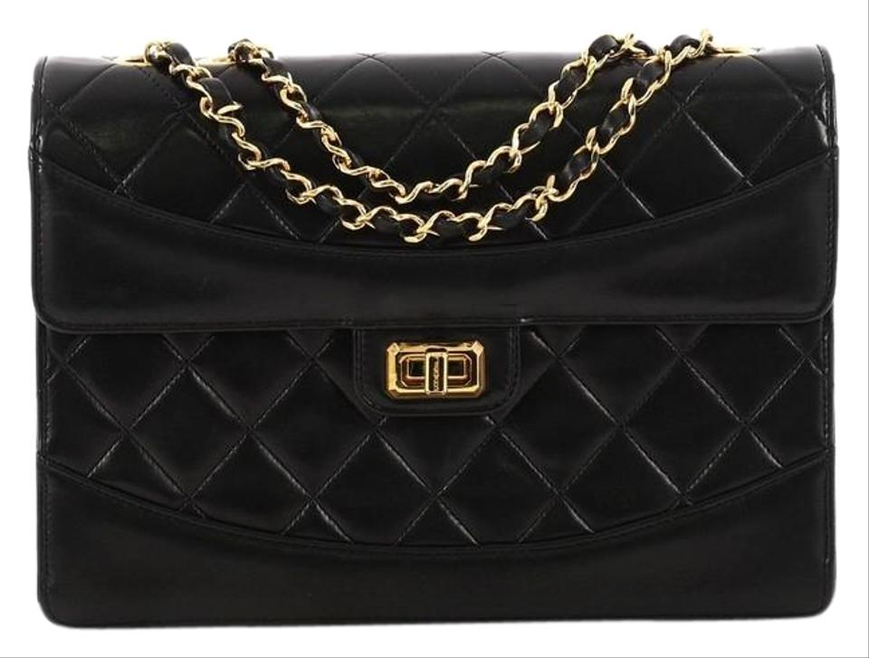 4f5593835e44 Chanel Mademoiselle Classic Flap Vintage Quilted Lambskin Medium Black  Leather Shoulder Bag