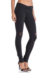 Rag & Bone Distressed Holes Skinny Jeans-Distressed