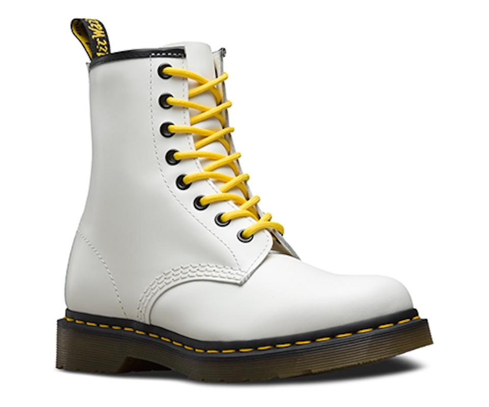 e4716a3bc00 Dr. Martens White W Org. 1460 Smooth W. Yellow Laces Boots/Booties Size US  5 Regular (M, B) 21% off retail