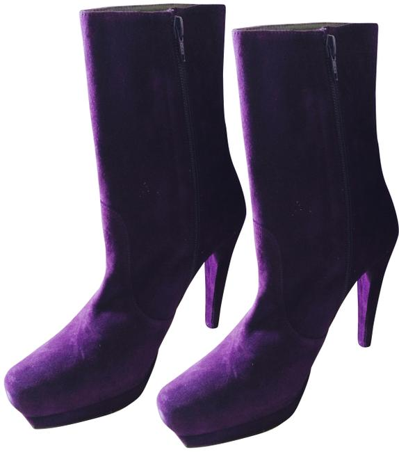 Item - Purple Suede Ankle Boots/Booties Size EU 39 (Approx. US 9) Regular (M, B)