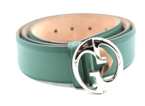 bcc53568a0b Gucci Green Teal Monogram Gg Web Coated Canvas 100 40 Sale Belt ...