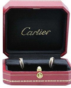 Cartier Cartier Trinity Diamond Earrings Tricolor 18k WHITE Yellow Rose Gold