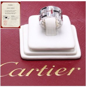 Cartier Black Lacquar 18k White Gold Le Baiser Du Dragon Coa Ring