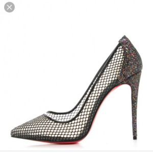 Christian Louboutin Holiday Sparkle So Kate Classic Evening Black Pumps