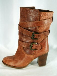 Massimo Leather Chestnut Boots