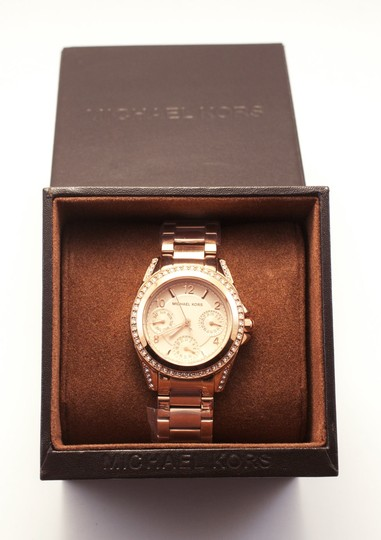 Michael Kors Blair Rose Gold-Tone Stainless Steel Chronograph Watch Image 2