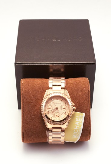Michael Kors Blair Rose Gold-Tone Stainless Steel Chronograph Watch Image 3