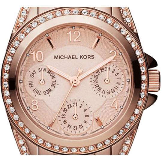 Michael Kors Blair Rose Gold-Tone Stainless Steel Chronograph Watch Image 5