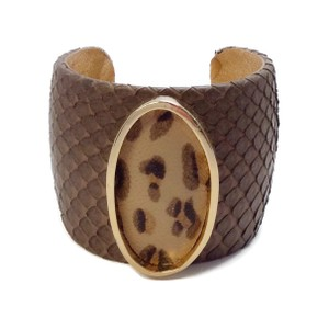 6cecb235ccd Ted Rossi Python Cuff with Leopard