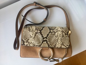 Chloé Leather Python Suede Trendy Shoulder Bag