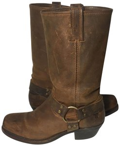 Frye 77300 Harness Size 9.5 Motorcycle Women Size 9.5 Brown Boots