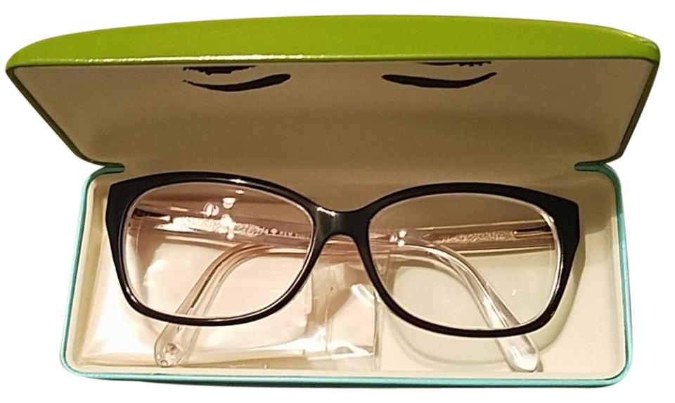 70970896e6b1 Kate Spade Black White Rose Gold Nwot Prescription Glasses ...