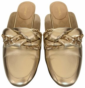 Chanel Light gold Mules