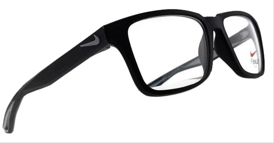 861dd5436f9 Nike 4279-004-54 Square Men s Black Frame Clear Lens Genuine Eyeglasses  Image 0 ...