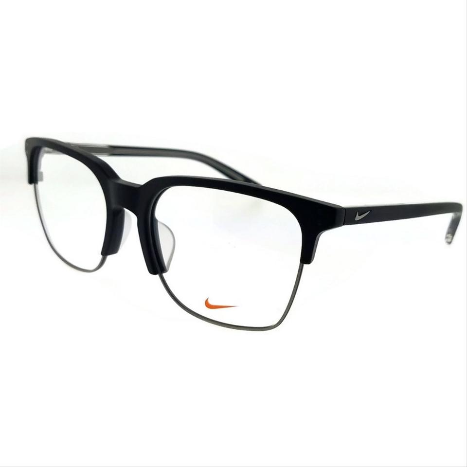 f2bfd7f03a0 Nike 38kd-001-55 Square Unisex Black Frame Clear Lens Genuine Eyeglasses