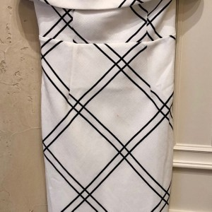 Lucy Paris short dress Black and white on Tradesy
