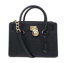 Michael Kors Satchel in black gold
