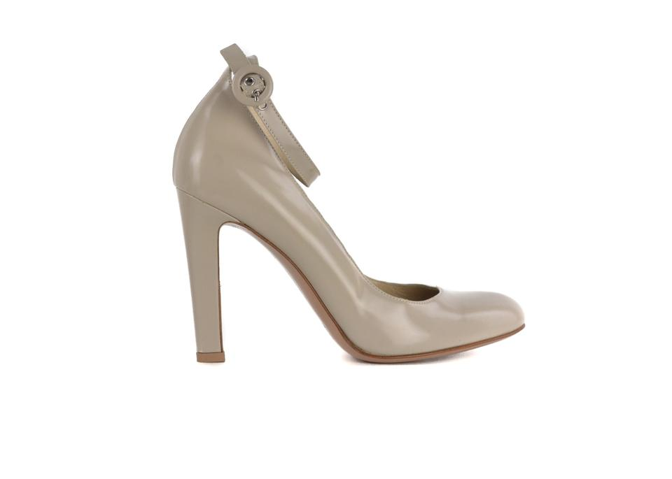 1df60f2cc5a0 Gianvito Rossi Grey Womens Patent Leather Round Toe Buckle C3044 Pumps. Size   US 7 Regular (M ...