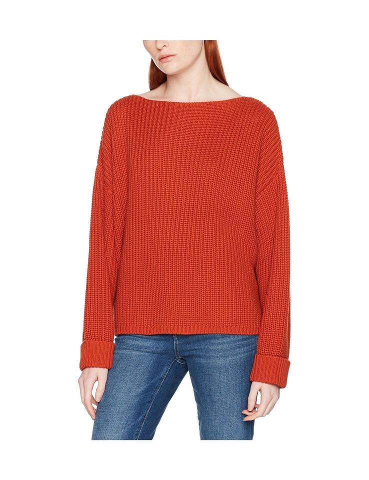 6026848efa9 French Connection XS Women's Millie Mozart Knit Jumper Red Sweater ...