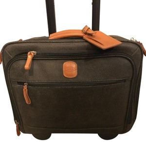 Bric's Leather Rolling Green Travel Bag