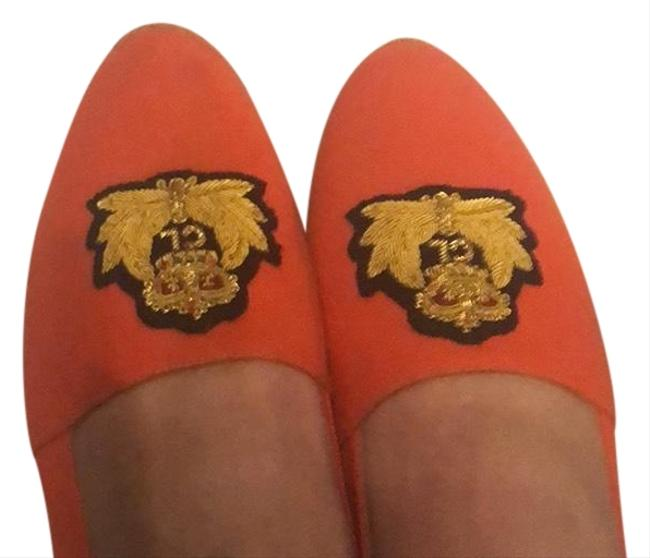 Item - Orange Espadrille Flats Size US 7.5 Regular (M, B)