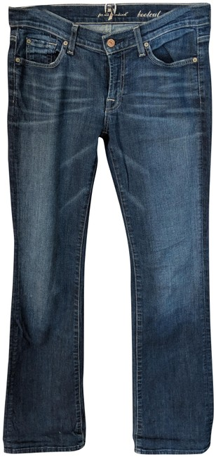 Item - Blue Distressed Boot Cut Jeans Size 29 (6, M)