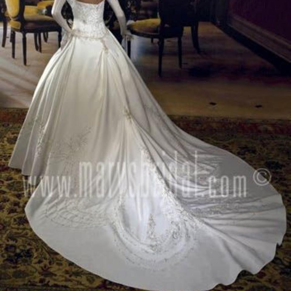 89b39f2d25a Mary s Bridal Ivory Satin Designer Gown Formal Wedding Dress Size 28 ...