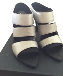 Devi Kroell Black And Silver Sandals