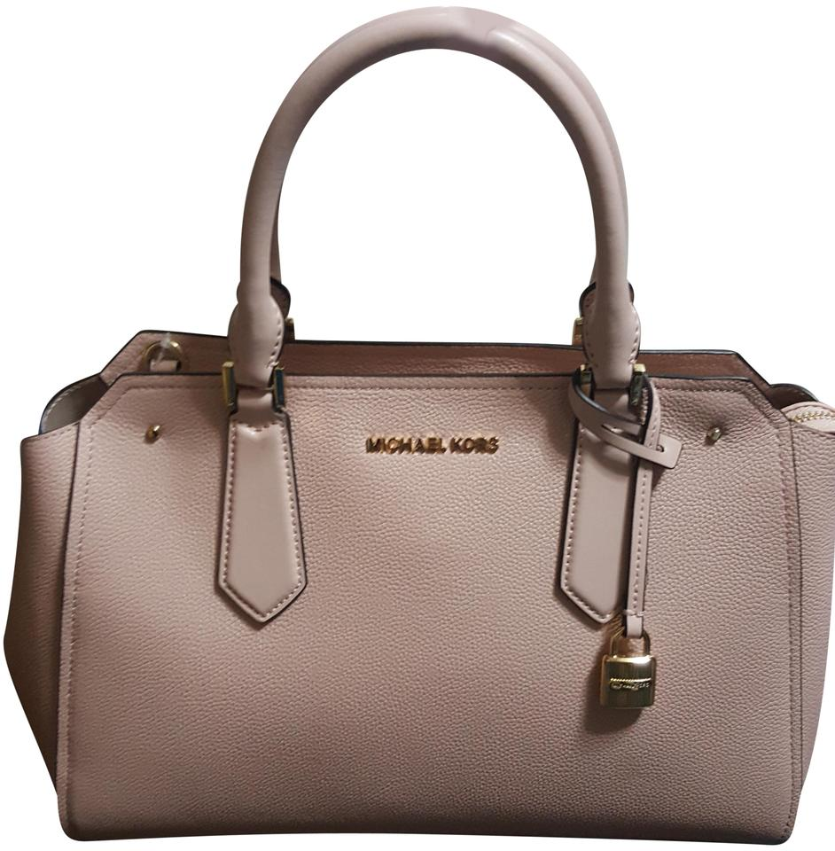 be148d95d59f MICHAEL Michael Kors Large Hayes Pastel Pink Leather Satchel - Tradesy