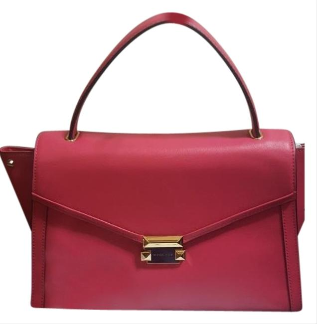 Item - Large Top Handle Whitney Rose Pink Leather Satchel
