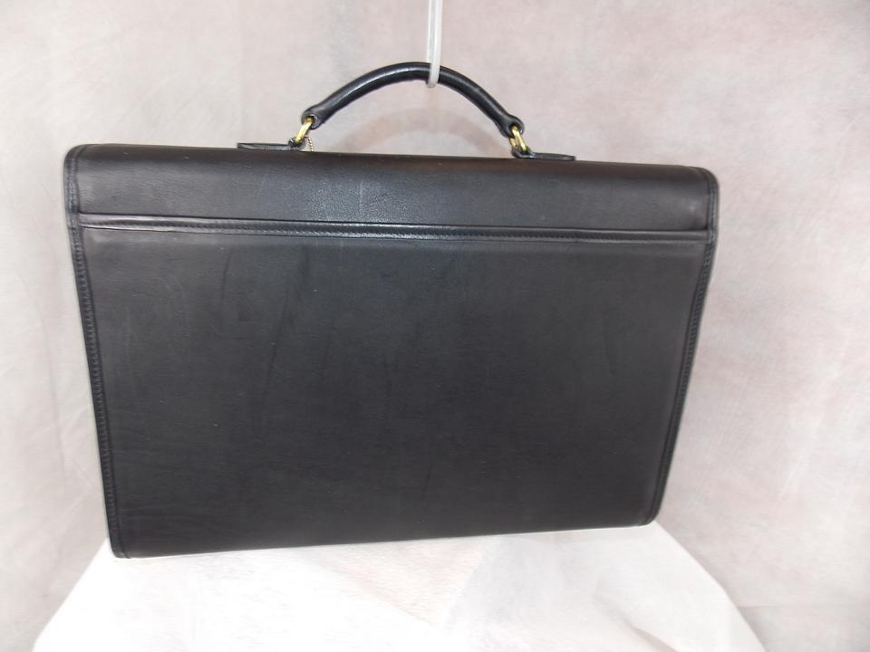 Coach  fold-over  Briefcase ~  j8e-5214 ~ Brass ~ ~ Never Used Black ... 03bd935514