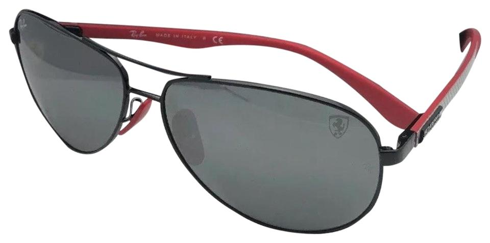 0d8f4b74e5 Ray-Ban New Ferrari Rb 8313-m F009 6g Black Red-carbon Fiber W ...